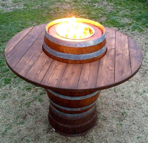 barrel pit bar height wine barrel pit table click on this photo