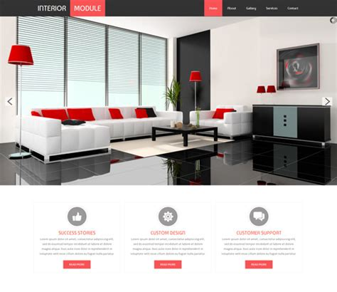16 best furniture interior design html web templates