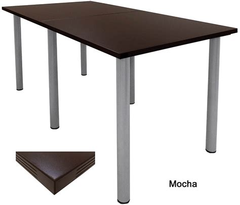 Standing Height Conference Table Standing Height Conference Tables In White Mocha Maple Black Or Charcoal 8 Length See