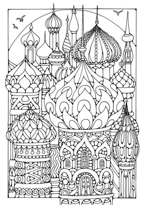 Towers Coloring Page American Hippie Art Coloring Pages Russia Coloring by Towers Coloring Page