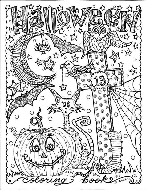 halloween coloring pages detailed halloween coloring book full of halloween coloring fun be