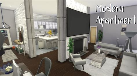 sims  speed build modern apartment  cc youtube