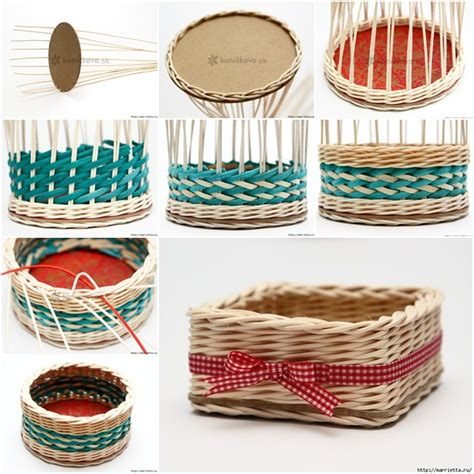 How To Make A Paper Woven Basket - weave basket containers rattan