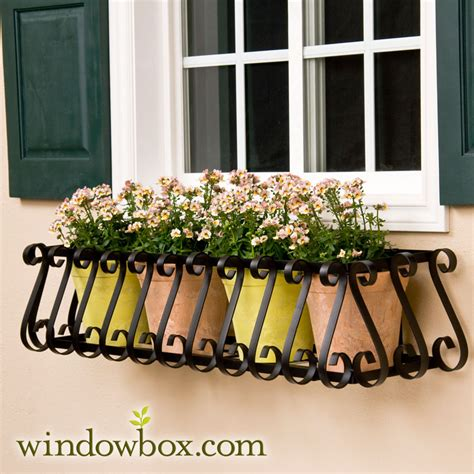 wrought iron window boxes the european window box cage square design wrought