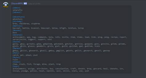 discord bot commands commands discord dungeons wiki