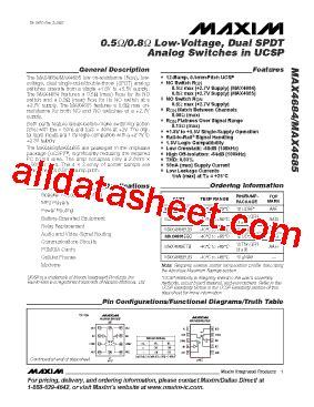 maxim integrated products management team max4685eub datasheet pdf maxim integrated products