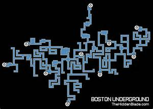 Boston Tube Map by Assassin S Creed 3 Boston Underground Map