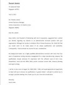 Cover Letter Friend Referral by Cover Letter Referral From Friend