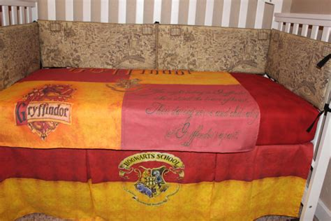 harry potter crib bedding crib bedding set harry potter theme gryffindor 6 piece
