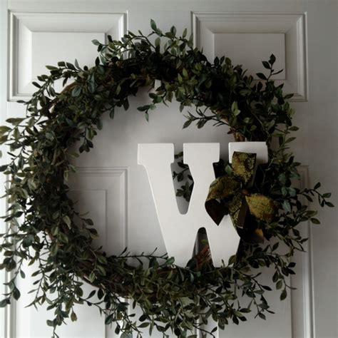 Letter Wreaths For Door by Door Wreath With Letter Home Decor