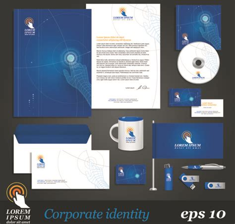 corporate identity kit vector templates free vector in encapsulated postscript eps eps