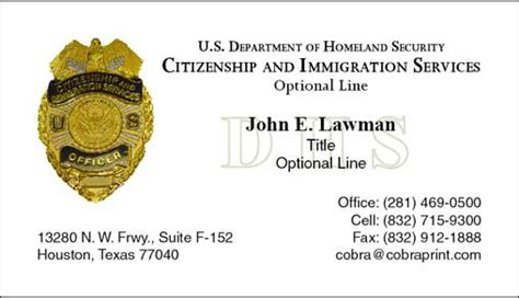 dhs business card template homeland security business cards gallery business card