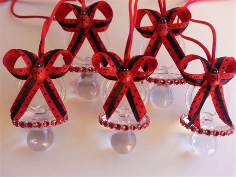 Ladybug Baby Shower Centerpieces by 12 Ladybug Pacifier Necklaces For Prizes Favors Baby