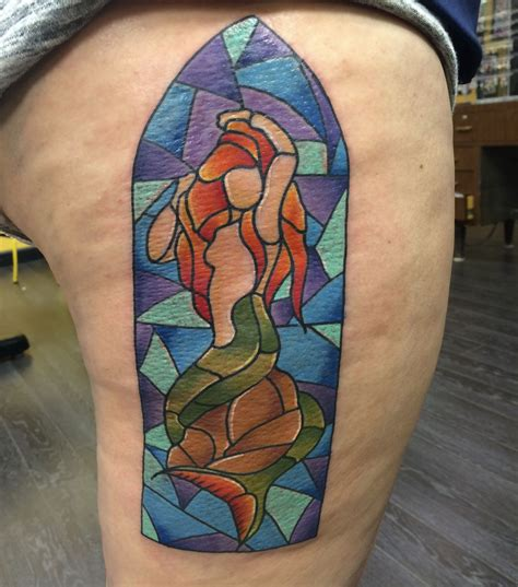 stained glass tattoo my sixth i finally a harry potter one the