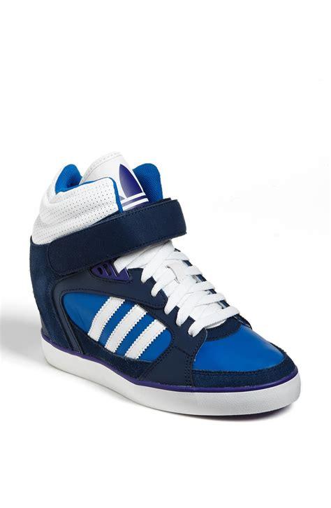 adidas wedge sneakers adidas amberlight up basketball wedge sneaker in blue