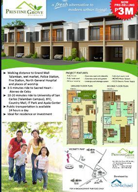 san jose talamban map pristine grove residences in san jose talamban cebu