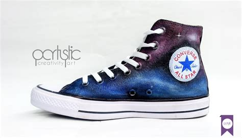 custom painted shoes galaxy converse partystic