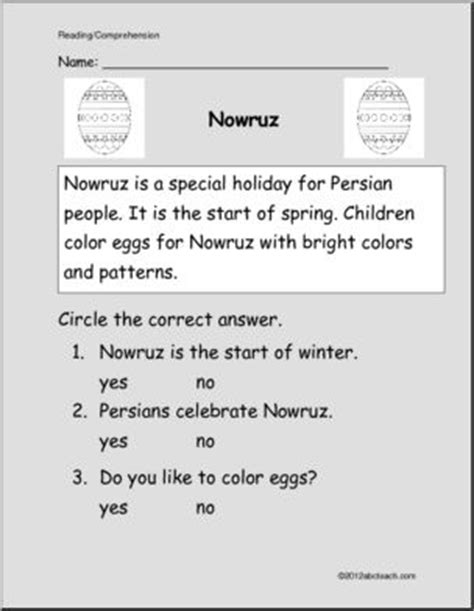 new year easy reading easy reading comprehension nowruz new year k 1