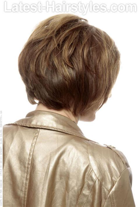 back view of short haircuts older women scene hairstyles women the stacked bob haircut gallery