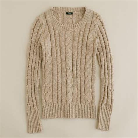 fisherman knit sweater womens j crew shrunken fisherman sweater in beige beechwood lyst