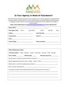 food bank application form fill printable