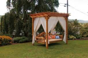 Outdoor Patio Pergola Swing by Amish Outdoor Furniture And Polywood Furniture From