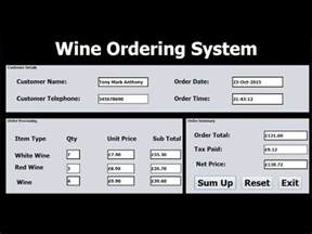 how to create ordering systems in java netbeans