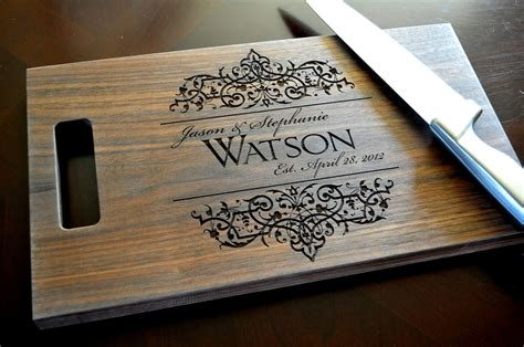 personalized engraving ideas personalized cutting board laser engraved by mrcwoodproducts