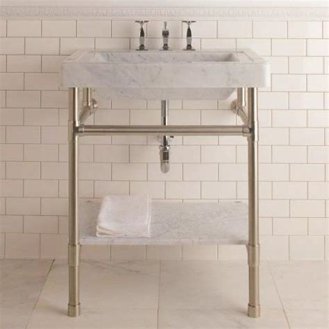 Stone Forest Console Sink Circa Marble Top ? Canaroma Bath