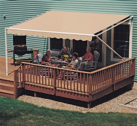 Retractable Awnings For Decks And Patios 18 Ft Sunsetter 900xt Retractable Awning Outdoor Deck