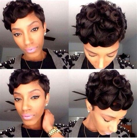 short pin curl hairstyles for black women pin curls black is beautiful pinterest hair pin
