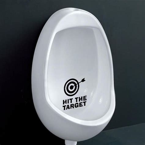 funny bathroom stickers hit the target waterproof funny toilet sticker bathroom
