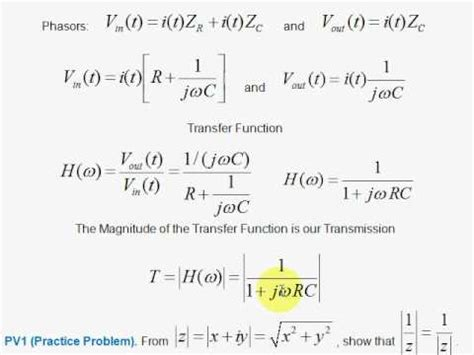 high pass filter equation v3 transfer function