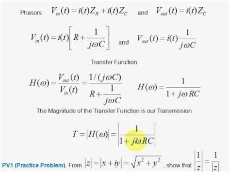 high pass filter equation derivation v3 transfer function