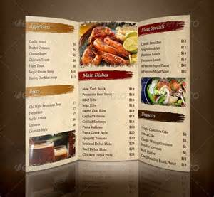 Menu Brochure Template Free 32 restaurant brochure templates free psd eps ai