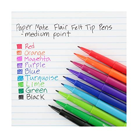 papermate color pens paper mate flair porous point felt tip pens assorted