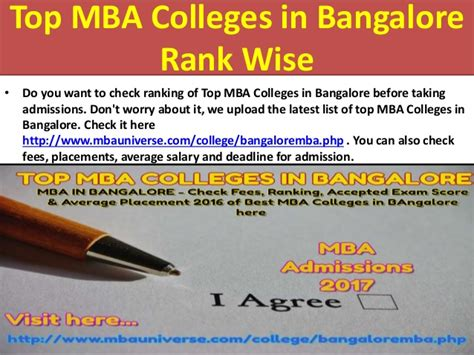 Top Mba Colleges In Bangalore With Fees by Top Mba Colleges In Bangalore With Fee Structure