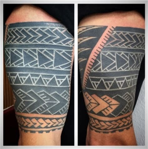 tattoo cover up with white ink tattoo fx gallery category neil s tribal work image