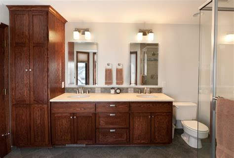 bathroom vanity with linen cabinet cabinets surprising bathroom linen cabinets ideas