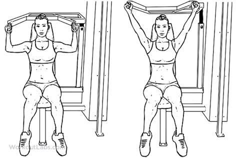 shoulder press diagram machine seated shoulder press illustrated exercise guide