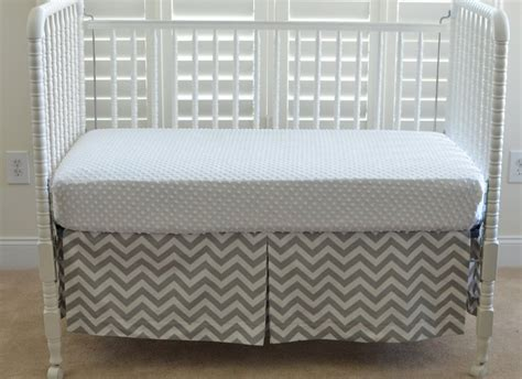 Grey Chevron Crib Skirt by Orange And Gray Chevron Crib Skirt Prefab Homes Black