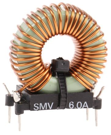 what is a toroidal inductor smv60 roxburgh emc 120 μh ferrite toroidal inductor 6a idc 40mω rdc smv roxburgh emc