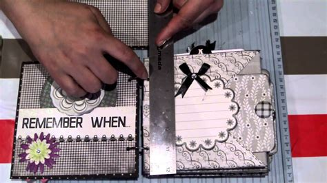 Scrapbook Tutorial Videos | scrapbook para principiantes tutorial minialbum f 225 cil