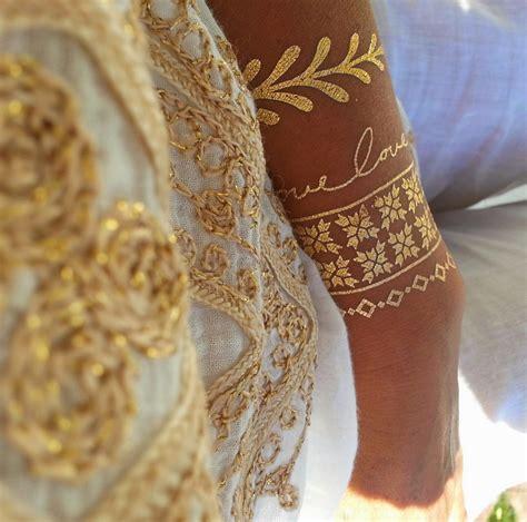 gold wrist metallic tattoo on the hunt