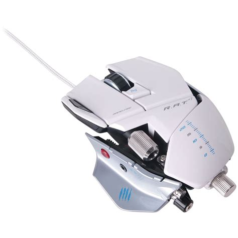 Madcatz R A T 7 Gaming Mouse Putih mad catz r a t 7 wired gaming mouse mcb4370800c1 04 1 b h