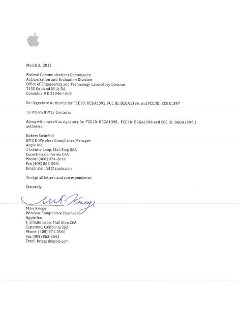 a1395 ipad cover letter signature letter apple inc