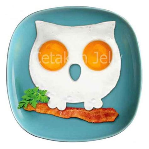 Kupluk Binatang Owl Acg100 3 cetakan silikon telur mata sapi burung hantu owl cetakan jelly cetakan jelly