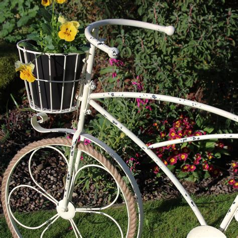 Bicycle Planters by Large Metal Ornamental Bicycle Plant Pot Planter
