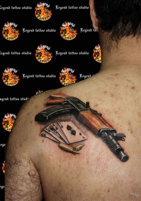 tattoo gun tattoo designs ak 47 gun www legendtattoo gr realistic ak47