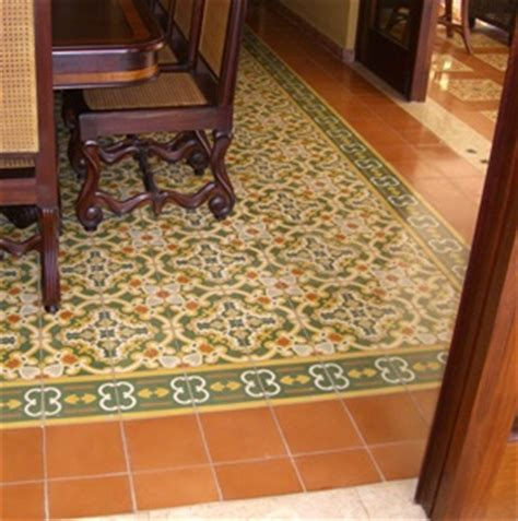 dining room with patterned travertine tile floor cement tile flooring with pattern in formal dining room